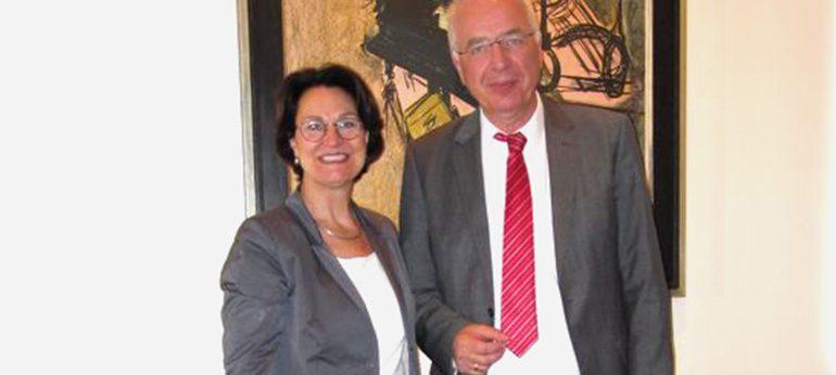 Maria Fischer und Dr Leidinger